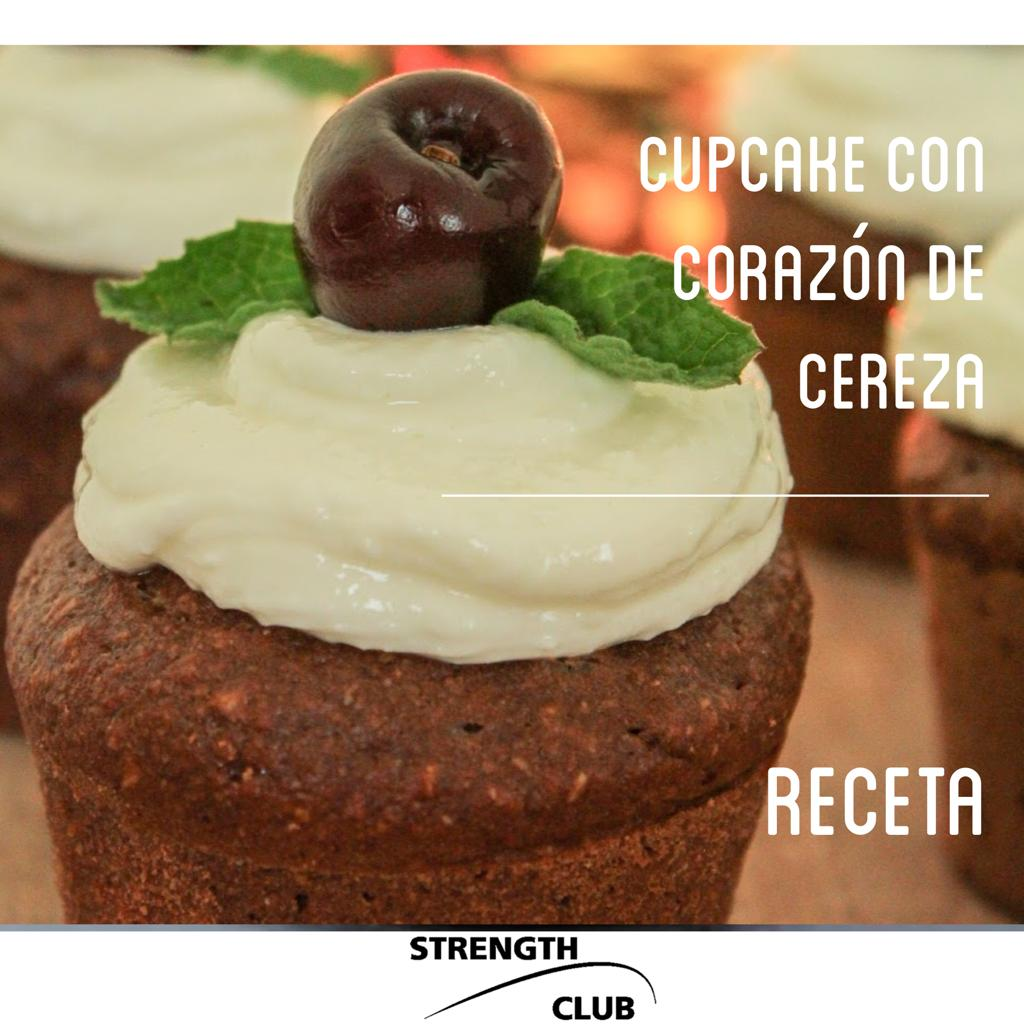 Cupcakes saludables de cereza